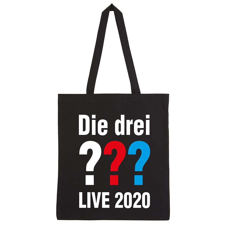 DDF Die drei ??? Live 2020 Tasche Tasche, schwarz
