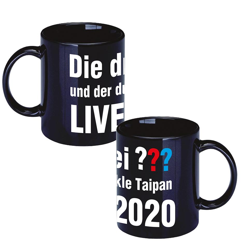 DDF Die drei ??? LIVE 2020 Tasse Tasse, schwarz