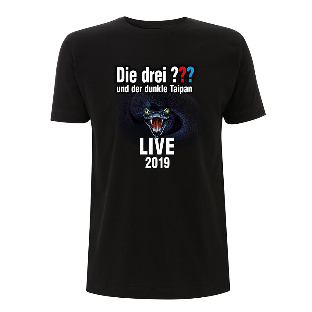 DDF Die drei ??? Tour Shirt 2019 Herren T-Shirt schwarz